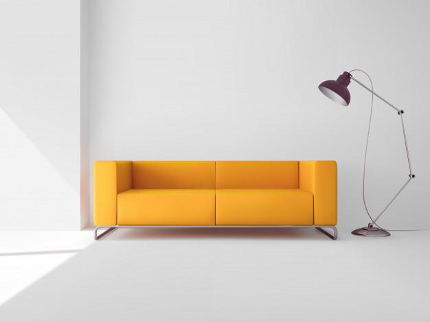 Moderna sedežna garnitura kot osrednji del dnevnega prostora