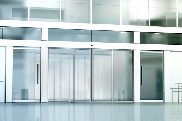 avtomatska steklena drsna vrata